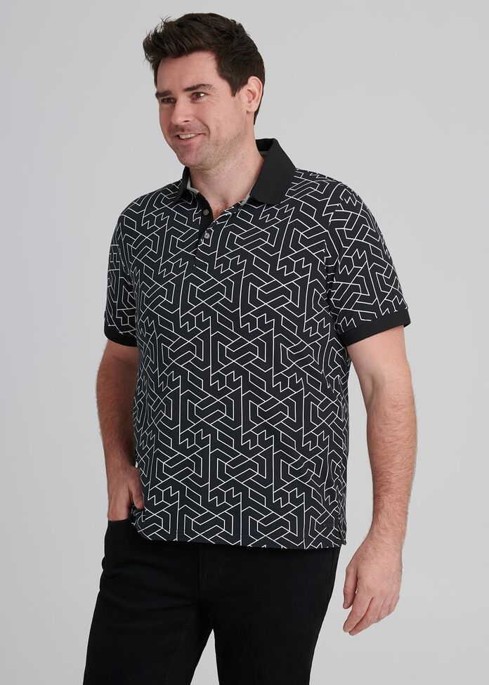 Geo Polo Shirt, , hi-res