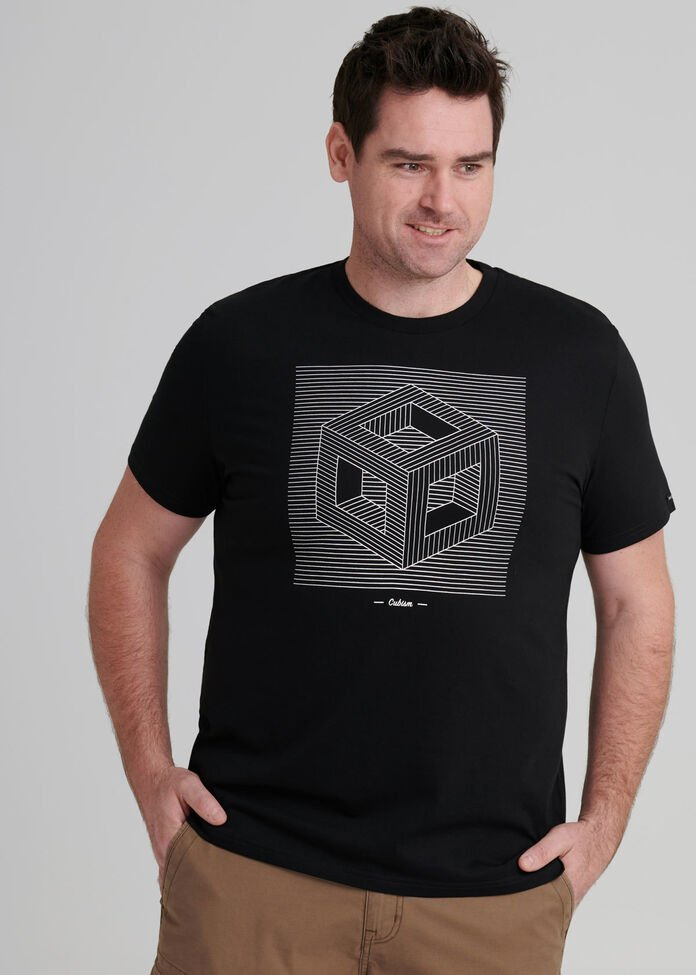 Cubism Crew Neck T Shirt, , hi-res