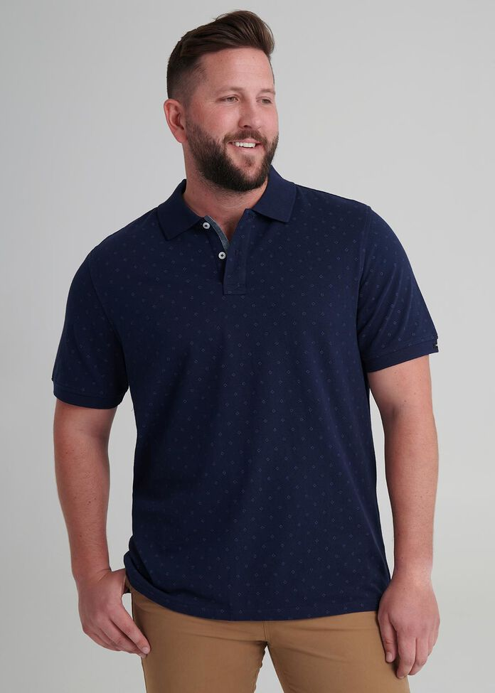 Mason Printed Polo, , hi-res