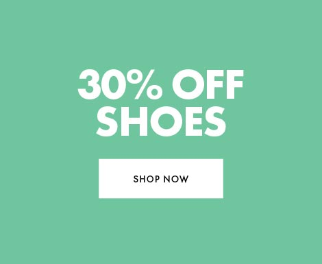 30% off shoes and accessories